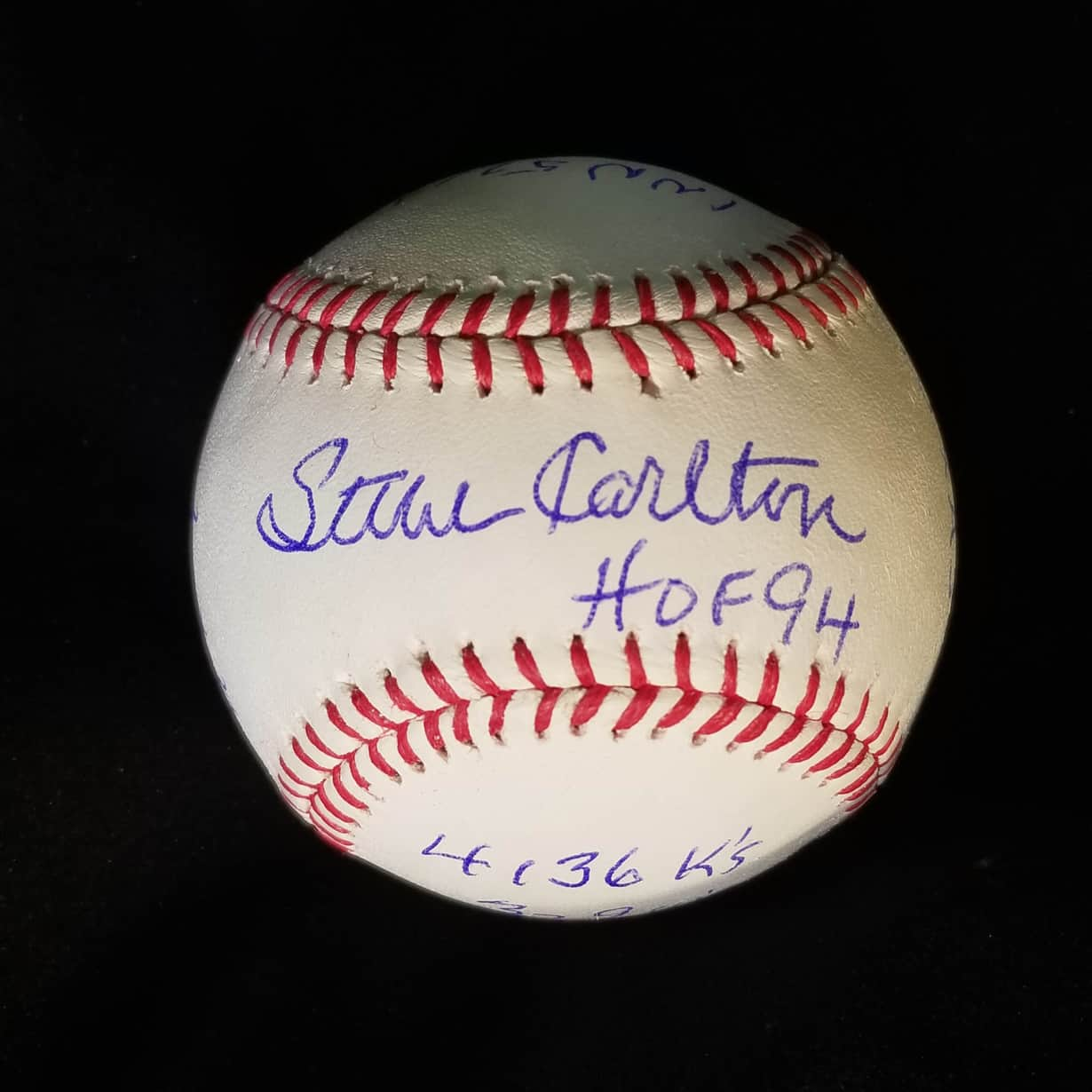 "Baseball-mlb Steve Carlton Autograph Signed Omlb Inscribed ""329 Ws"" Authenticated"