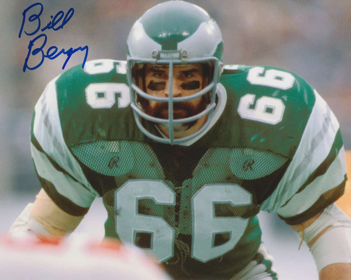81f685c31c8 Bill Bergey Signed Philadelphia Eagles 8×10 Horizontal Color Photo