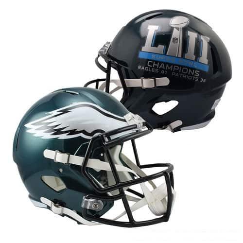 df742410805 Description. Philadelphia Eagles Riddell Super Bowl LII Champions Revolution  Speed Replica Full Size Helmet.