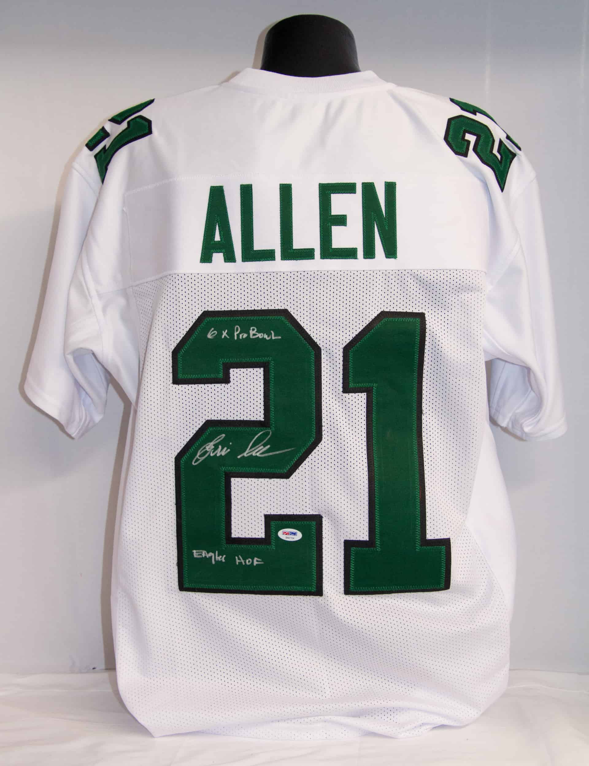 Eric Allen Signed & Dual Inscribed Jersey - Custom White
